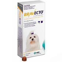 БРАВЕКТО (BRAVECTO) XS - таблетка от блох и клещей для собак 2-4,5 кг