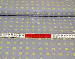 Трикотажное полотно сингл джерси с маленькими лимонами и цветочками (Польша), фото 2