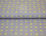 Трикотажное полотно сингл джерси с маленькими лимонами и цветочками (Польша), фото 4