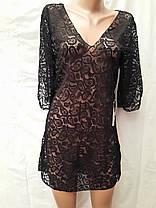 Платье-туника пляжное 025 Тиффани темно-зеленое на наши 44-46 размеры., фото 3