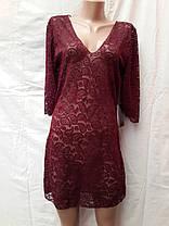 Платье-туника пляжное 025 Тиффани темно-зеленое на наши 44-46 размеры., фото 2