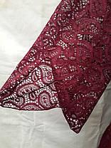 Платье-туника пляжное 025 Тиффани бордовое на наши 46-50 размеры., фото 2