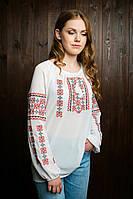 Вышитая шифоновая рубашка для девушки подростка 85-21
