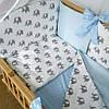 """Детский постельный комплект """"Elephants / blue"""" (без балдахина)"""