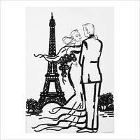 """Схема для частичной вышивки бисером """"Встреча в Париже"""""""