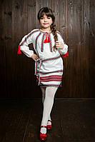 Красивое вышитое детское платье 752-1