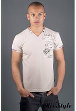 Мужская футболка Грет бежевый