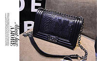 Сумка женская клатч Chanel black Snake