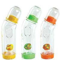 Бутылочка пластиковая антиколиковая с силиконовой соской, 250 мл. Курносики 8850217870048