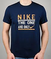 Мужская футболка Nike AIR 4124 Тёмно-синяя
