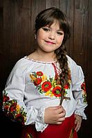 Стильная детская вышитая блуза 87-223