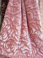 Плед покрывало норка Евро размер цветы 3D  East Comfort  засохшая роза