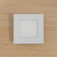 Светильник накладной LED Downlight  6W 6500K/4000К/3000К  120х120х13мм квадратный алюминиевый корпус
