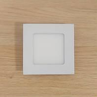 Светильник накладной LED Downlight  6W 6500K/4000К/3000К  120х120х32мм квадратный алюминиевый корпус
