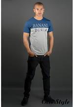 Мужская футболка Бани синий