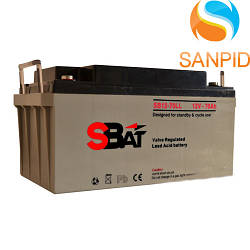 Аккумуляторная батарея Sbat SB 12-70LL