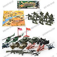 Набор солдатиков 6633, +военная техника и игровое поле. Военный тематический набор для игры.