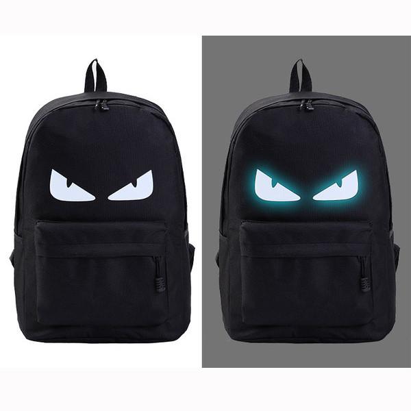 Рюкзак молодежный светящийся с глазками