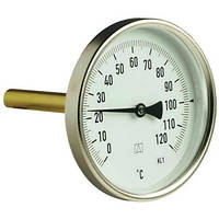 Термометр Watts T80/75 0-120 с погружной гильзой