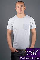 Мужская серая футболка (р. 44-58) арт. 1172