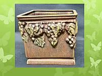 Горшок с рельефом винограда большой Р040