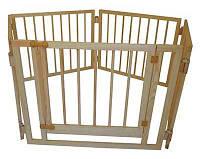 Манеж детский деревянный 72 см 5 секций с воротами