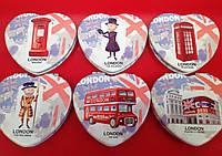 """Зеркало косметическое компактное """"London"""" в форме сердца"""