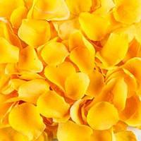Лепестки роз искуственные разные цвета 200 гр желтые