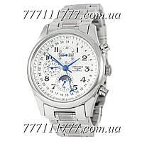 Часы мужские наручные Longines Master Collection Moonphases Steel Silver-White