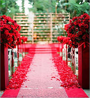 Лепестки роз  разные цвета 200 гр красные