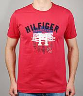 Мужская футболка  Tommy Hilfiger 4132 Красная