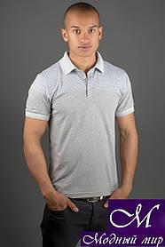 Стильная мужская футболка поло (р. 44-58) арт. 1169