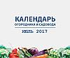 Календарь огородника и садовода - июль 2017