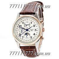 Часы мужские наручные Longines Master Collection Moonphases Brown-Silver-Gold-White