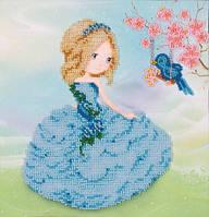 Схема для вышивки бисером T-0783 Девочка с птицей