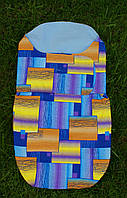 """Пеленка-кокон на липучках """"разноцветные прямоугольники"""", фото 1"""