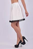 Легкая летняя юбка - колокол с кружевом (взрослые и детские размеры)