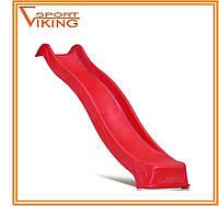 Горка детская пластиковая 2.2 м (красная)