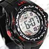 Електронні спортивні годинник LSH №1078 (чорно-червоні)