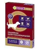 Vitomax Gold 35 см ошейник от блох и клещей для собак