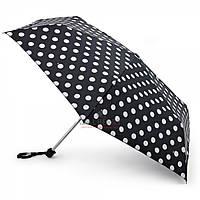 Женский зонт Fulton Miniflat-2 - L340 - White Spot (Белый горох)