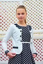 Нарядный пиджак-болеро для девочки р.134-152 красный, фото 2