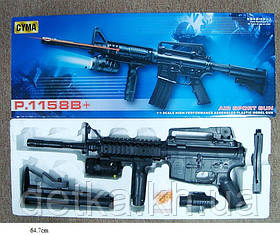 Автомат CYMA P.1158B детское оружие с пульками лазер свет