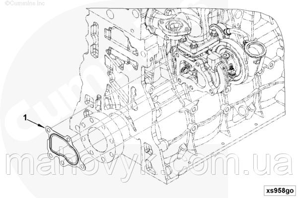 5255538 Прокладка патрубка выпускной системы турбины