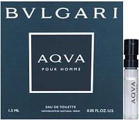Bvlgari Aqva Pour Homme - туалетная вода (Оригинал) 1,5ml (пробник)