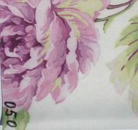 Рулонная штора Цветы (680х1600). 050. Сиреневый цветок.