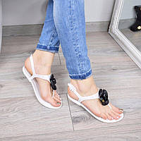 Босоножки женские Chanel белые 3403, сандалии женские