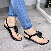 Босоножки женские Chanel черные 3404, сандалии женские