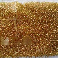 Бисер круглый Matsono золото с серебряной линией внутри Арт.1 японский