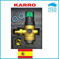 Редуктор давления Karro D06F 1/2A с пластиковым фильтром (Испания)